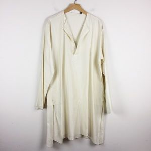 Vintage kurta oversized silk tunic boho